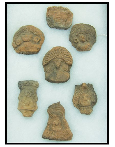 7 Pottery Figures