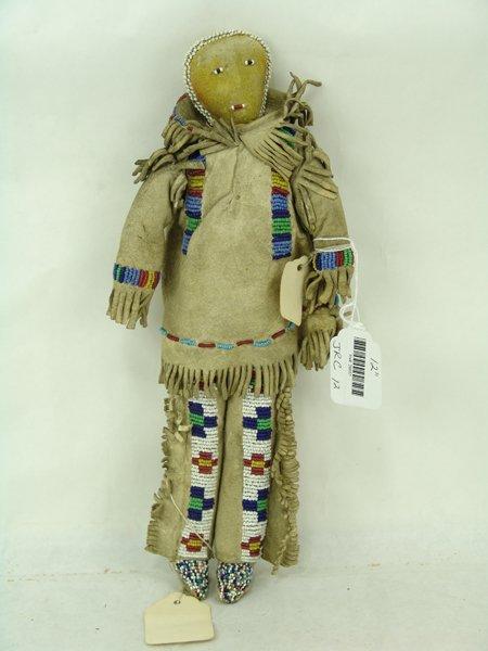 2 Plains Buckskin Dolls - 2