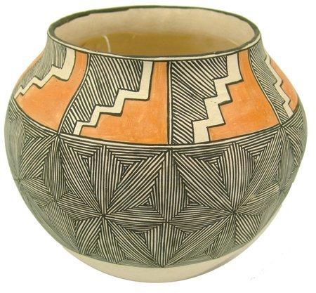 Acoma Pottery Jar - Mrs. R.T. Shroulate
