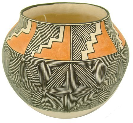 Acoma Pottery Jar - Mrs. R.T. Shroulate