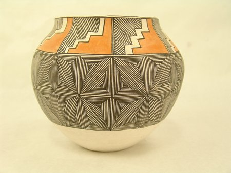 Acoma Pottery Jar - Mrs. R.T. Shroulate - 2