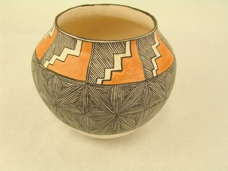 Acoma Pottery Jar - Mrs. R.T. Shroulate - 4