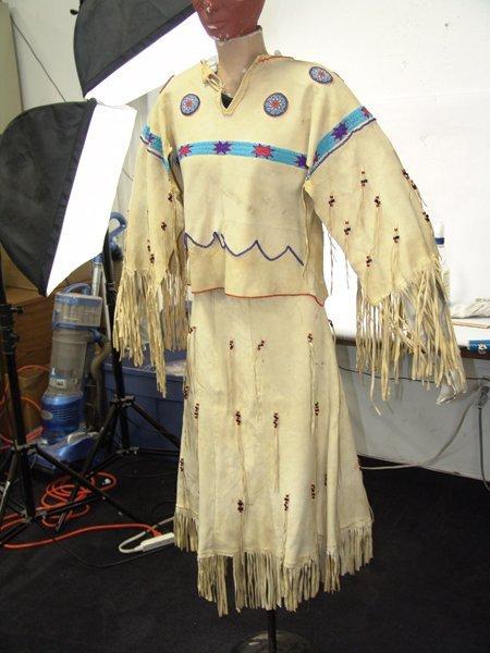 Arapaho Buckskin Dress - 3