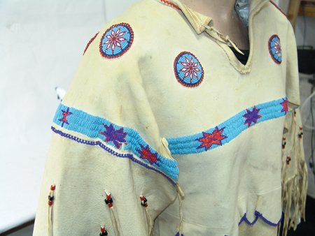 Arapaho Buckskin Dress - 6