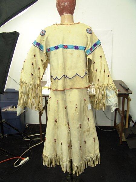 Arapaho Buckskin Dress - 9