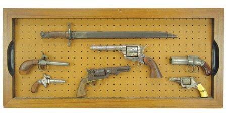 Antique Pistol Display