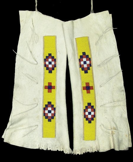 Northern Plains Beaded War Shirt & Leggings - 3