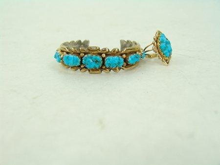 Zuni Gold Bracelet & Ring - 2