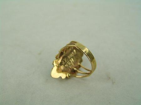 Zuni Gold Bracelet & Ring - 5