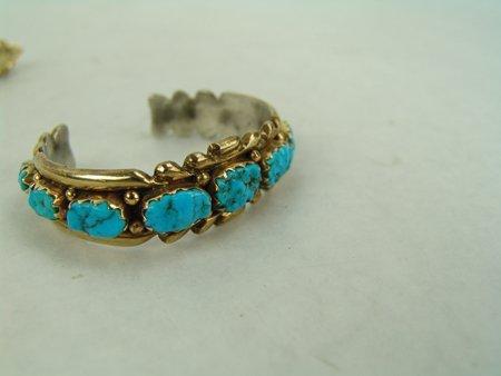 Zuni Gold Bracelet & Ring - 6