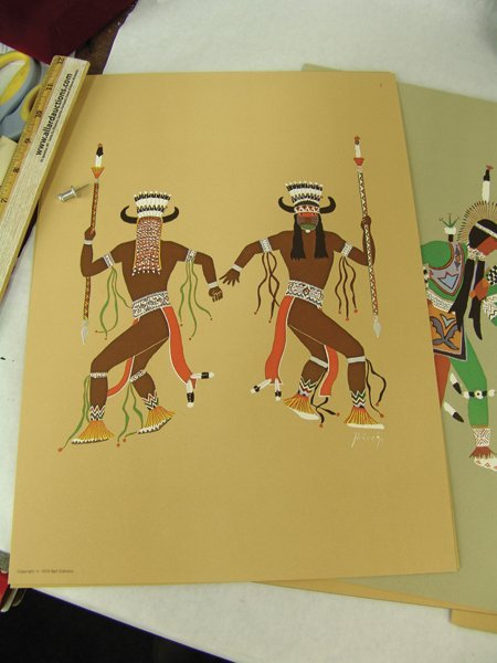"Complete ""Kiowa Indian Art"" Portfolio (Kiowa 5) - 5"