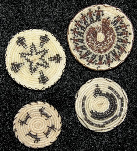 4 Miniature Horsehair Baskets