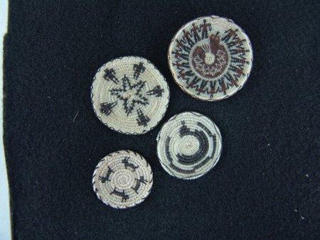 4 Miniature Horsehair Baskets - 2