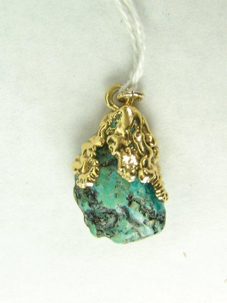 Gold & Turquoise Pendant - 2