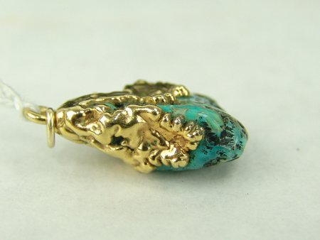 Gold & Turquoise Pendant - 5