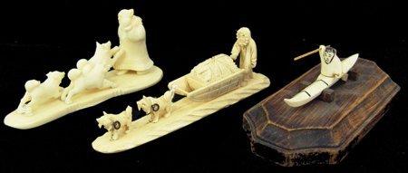 3 Eskimo Carved Items