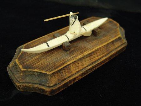 3 Eskimo Carved Items - 2