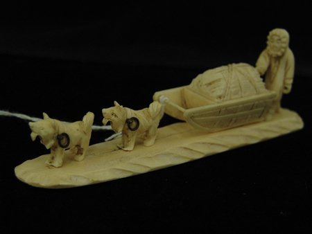 3 Eskimo Carved Items - 7