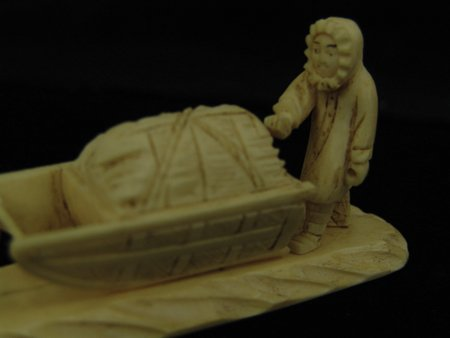 3 Eskimo Carved Items - 9