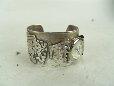 Hopi Watch Bracelet - Machale Kabotie - 2
