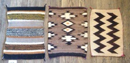3 Navajo Rugs/Weavings