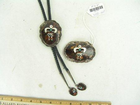 Zuni Inlay Bolo & Buckle - 2