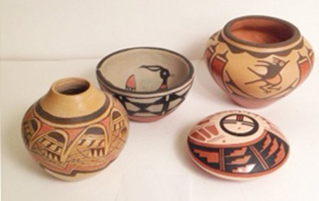 4 Pottery Pieces