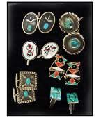 Vintage Navajo & Zuni Cuff Links