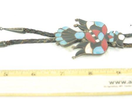 Vintage Zuni Inlay Bolo Tie - 3