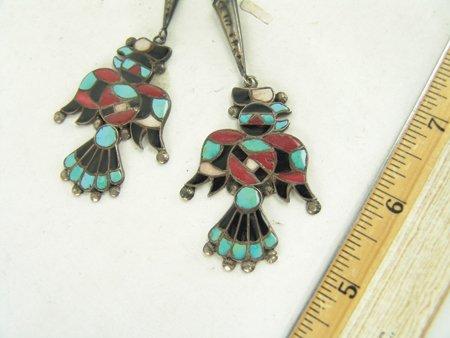 Vintage Zuni Inlay Bolo Tie - 5