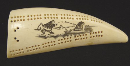 Eskimo Ivory Cribbage Board