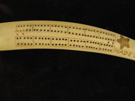 Eskimo Ivory Cribbage Board - 9