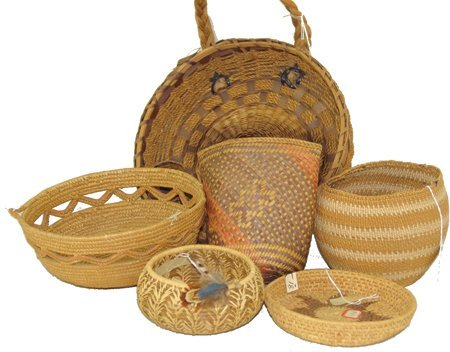 Group of 6 Baskets
