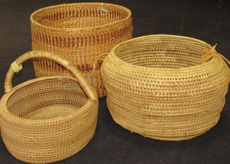 Group of 3 Large Baskets
