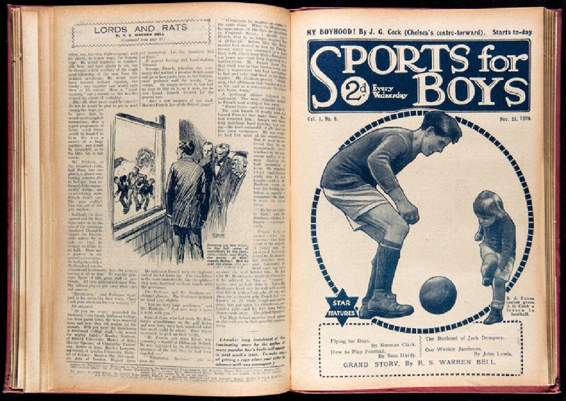 A bound volume of Sports for Boys from Vol.1 No.1 9th