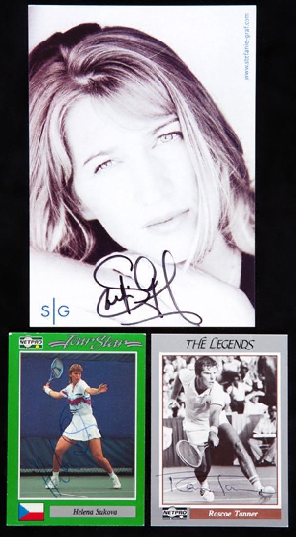 Sports autographs, comprising: an autographed Great