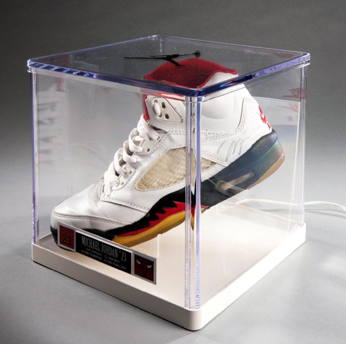 A Michael Jordan signed Nike Air Jordan basketball