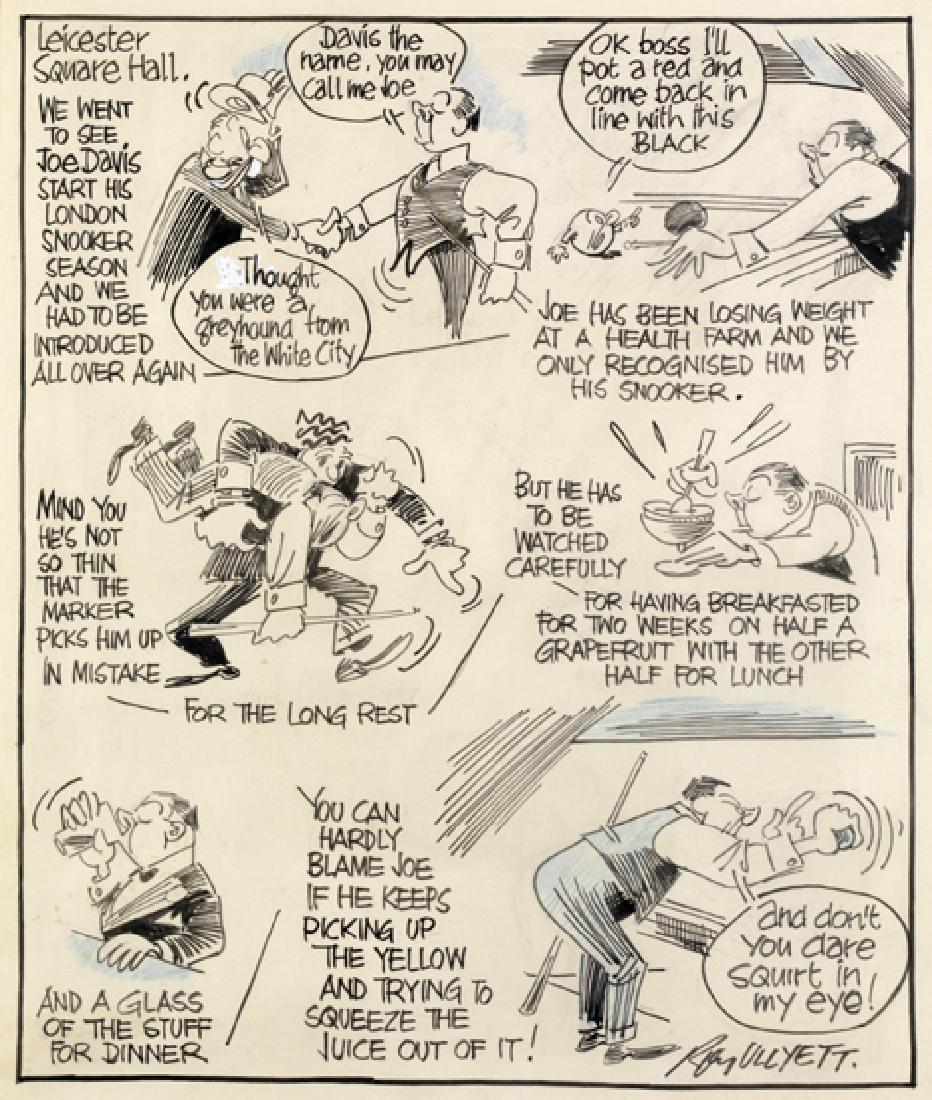 Roy Ullyett (1914-2001) JOE DAVIS original artwork for