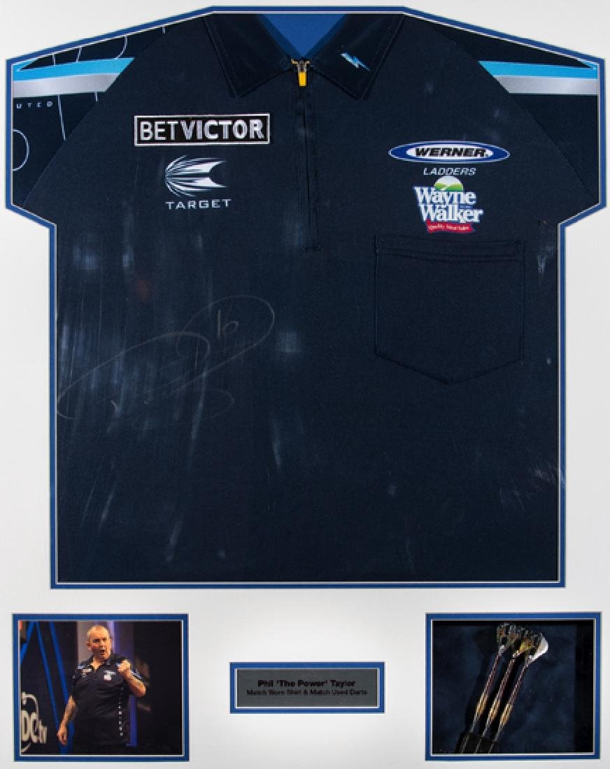 Phil 'The Power' Taylor match-worn shirt and match-used