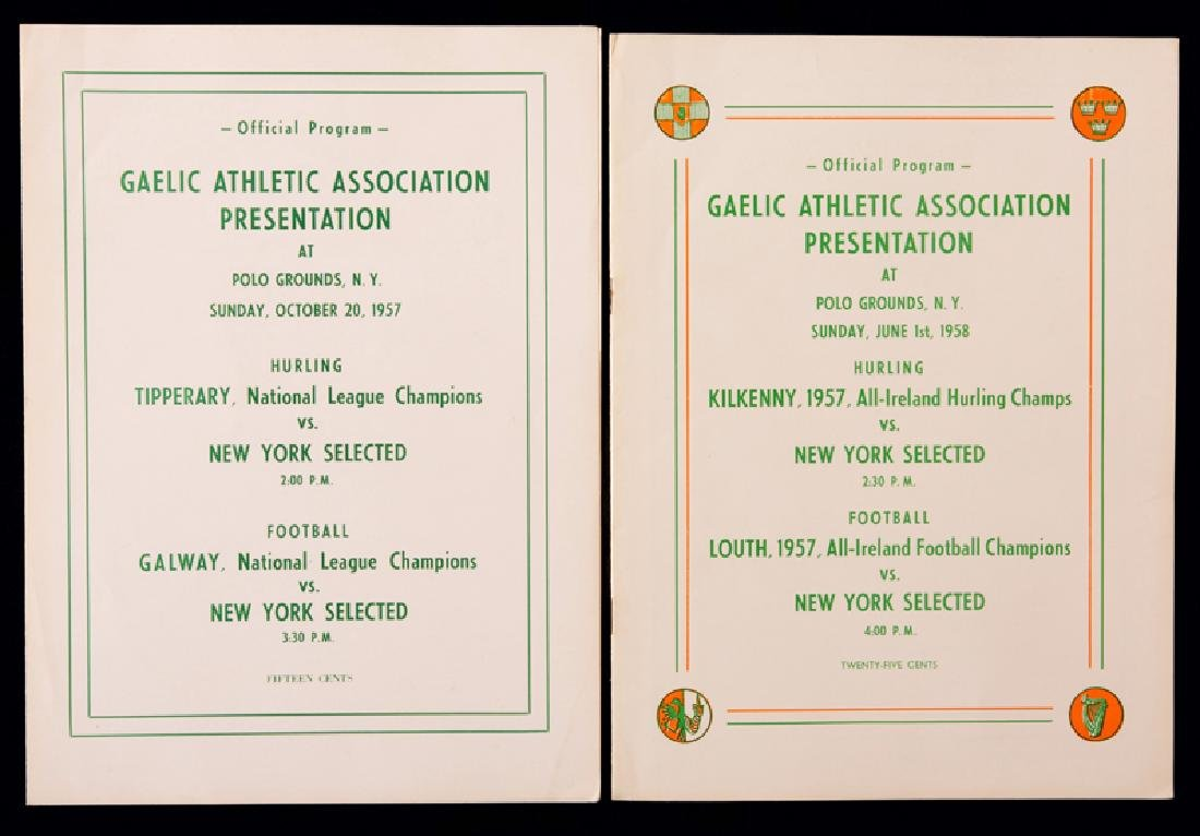 Two Gaelic Sports programmes for matches played at Polo