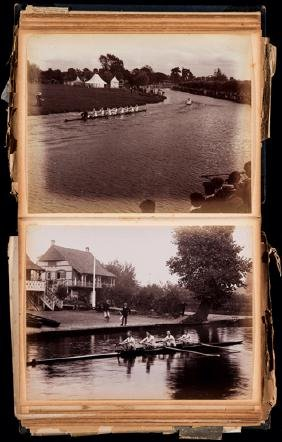 Two Edwardian scrapbooks on rowing, large ledgers