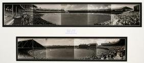 Two panoramic photographs of the Melbourne Cricket