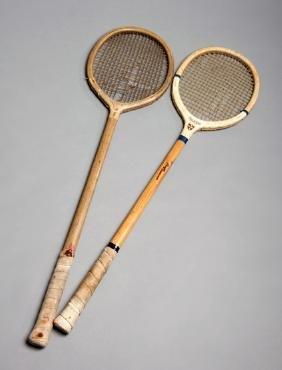 A Gradidge rackets racquet circa 1895, natural gut &