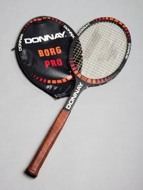 The tennis racket used by Bjorn Borg in the 1981 US