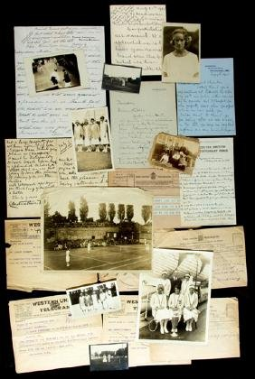 A folder of historically important ephemera from the