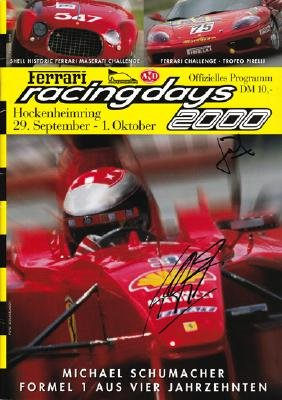 Michael Schumacher and Jean Todt signed Ferrari Racing