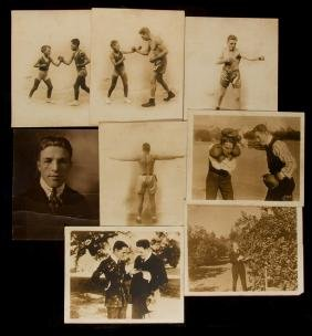A group of eight sepia-toned vintage photographs