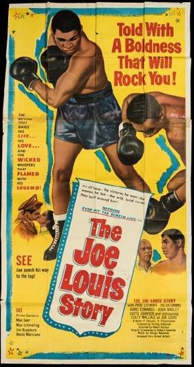 Very large movie poster ''The Joe Louis Story'',