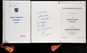 Sugar Ray Robinson and Joe Louis signed Anglo-American