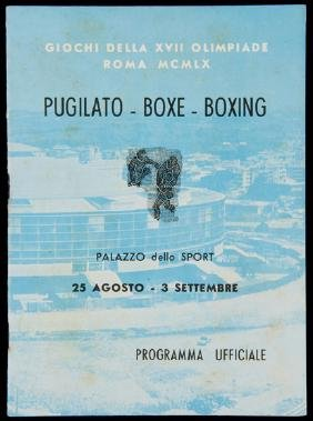 A Rome 1960 Olympic Games programme for the boxing